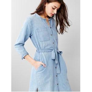 1969 Linen Denim Belted Shirtdress by Gap